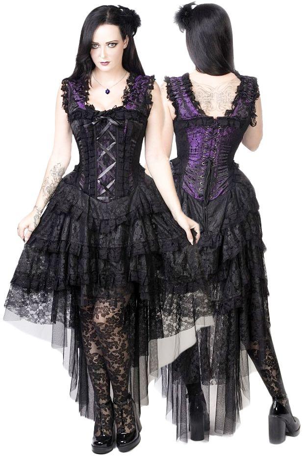 2d14494ff3d Burleska Gothic Dress - Purple King Brocade Ophelie Dress in 2019 ...