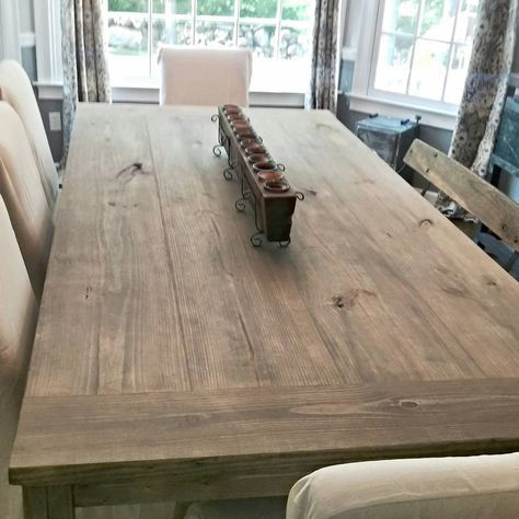 7ft Farmhouse Table Stain Weathered Grey Seal Matte I Love The Way This Find ColorKitchen