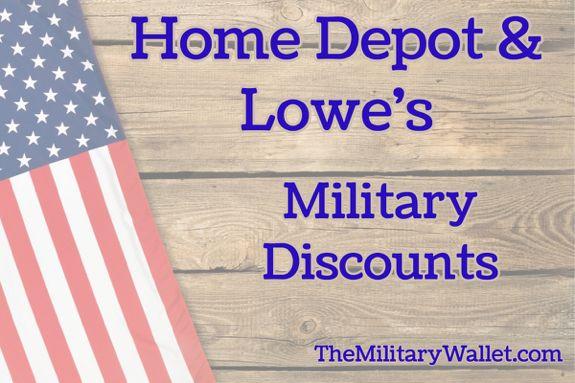 Home Depot And Lowe S 10 Military Discount Policy Year Round Home Depot Military Discounts Military