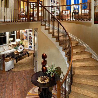 Best Open Stairway Below Upstairs Design Pictures Remodel 400 x 300
