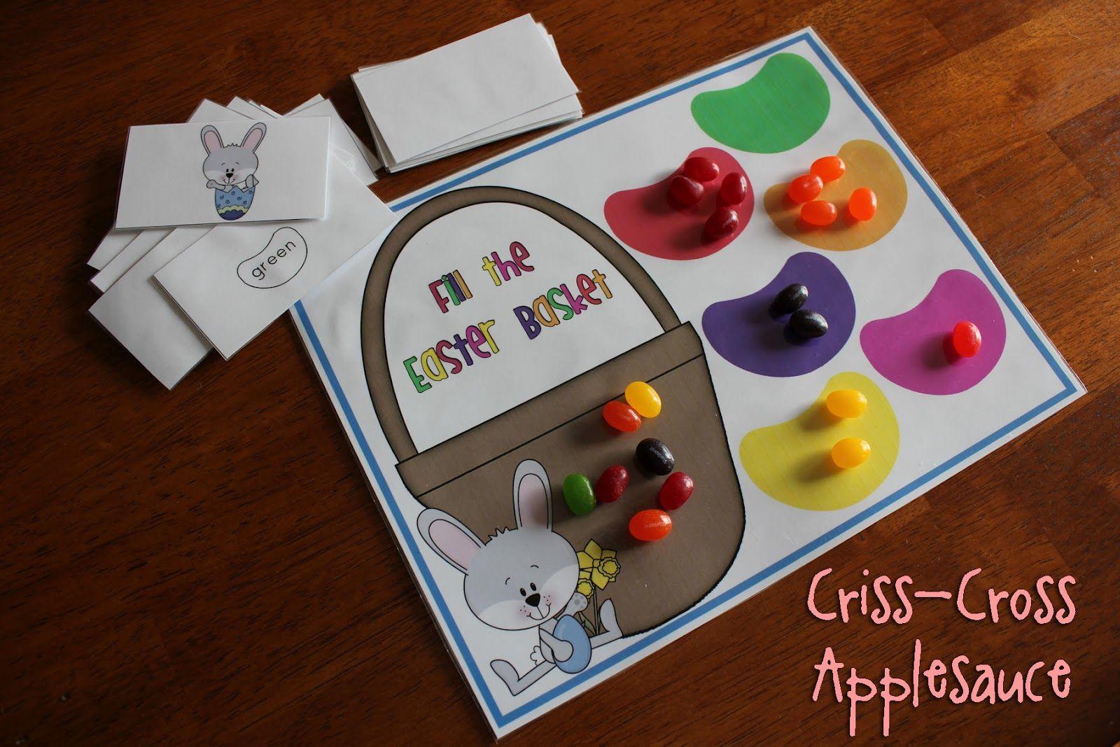 Criss Cross Applesauce Jelly Bean Color Game