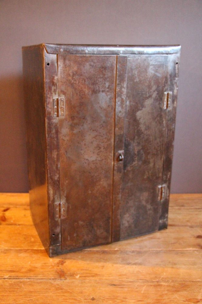 Vintage Industrial Rough Luxe Polished Metal Cabinet Storage Cupboard Small Ebay Cupboard Storage Wood Storage Cabinets Storage Cabinets
