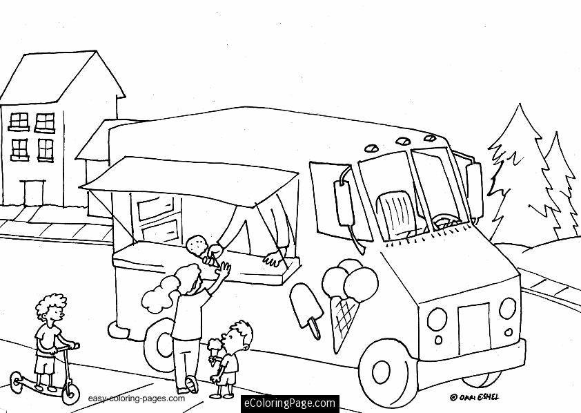 Ice Cream Truck Coloring Page Malvorlagen Vorlagen