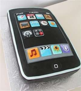 cell phone cake Cakes Pinterest Cake Cupcake icing and