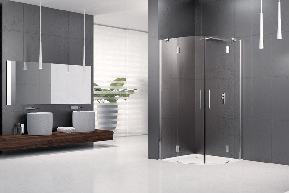 Un box doccia moderno ed essenziale piatto a sfioro