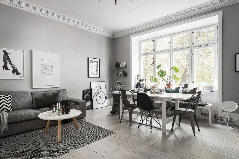 Grey living room // GREY WALLS // | HomeSweetHeavenlyHome ...
