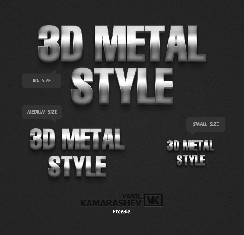 Metal Chrome Photoshop Styles   PSDDude