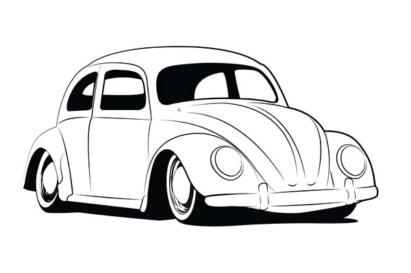 Pin By Auto Piirustus On Car Drawing Beetle Car Cool Car Drawings Cars Coloring Pages