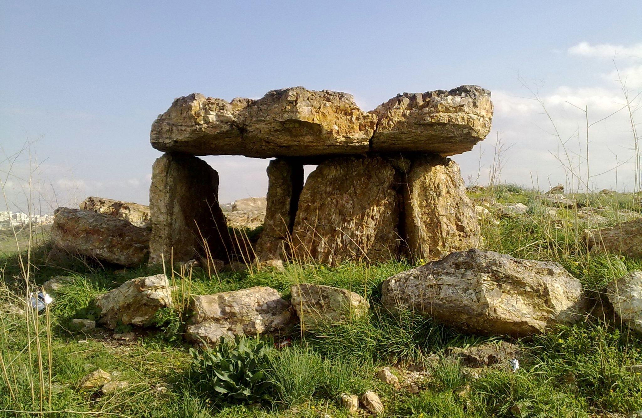 Dolmen in Johfiyeh Irbid north of Jordan