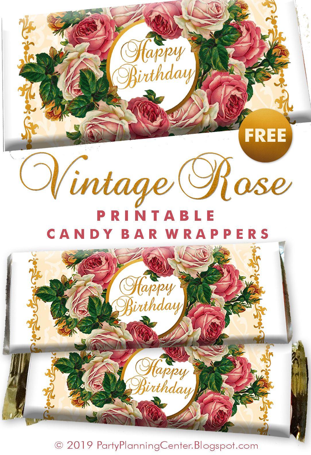 Free Printable Birthday Hershey Bar Wrapper