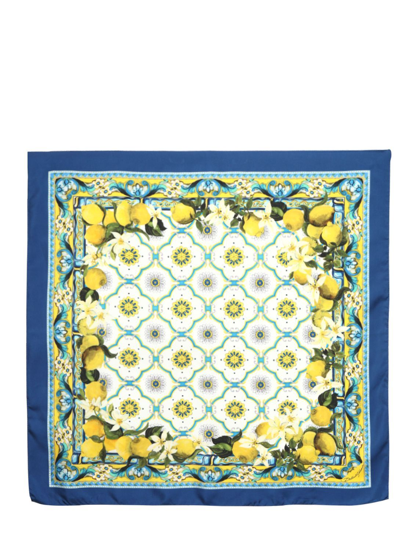 dolce   Gabbana scarf -   pattrens   Pinterest   Silk scarves, Silk ... 84a71f97be9