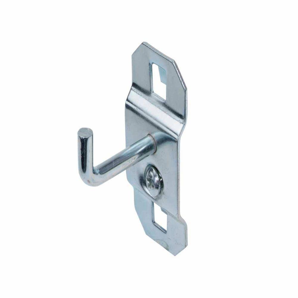 LocHook 1 in  Single Rod 90 Degree Bend 3/16 in  Dia Zinc