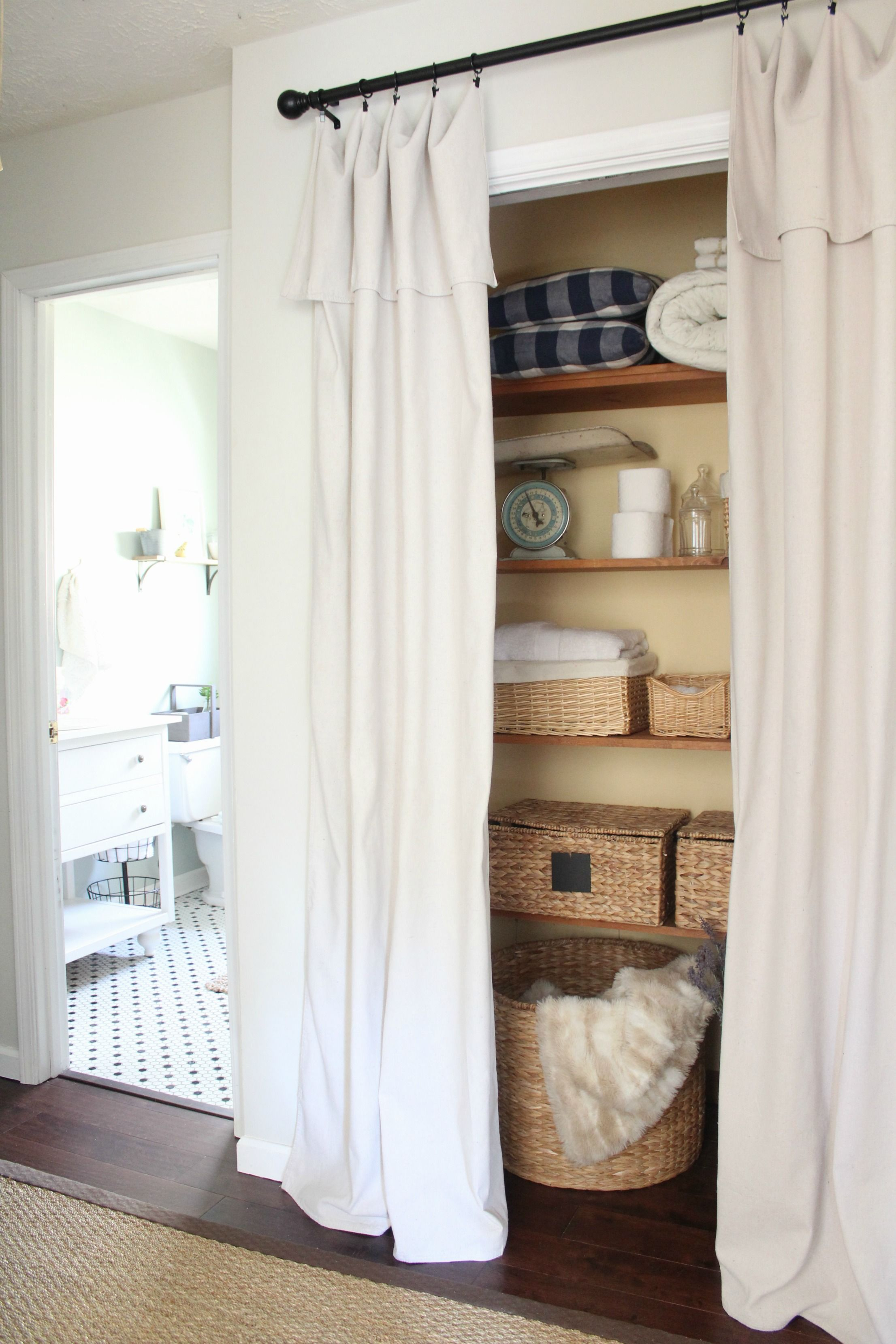Shower curtain alternatives - Create A New Look For Your Room With These Closet Door Ideas