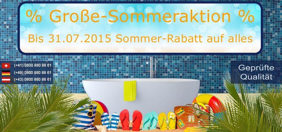 Große #Sommeraktion bei #Bädermax!  Bis zum 31.07 #Rabatt auf ALLES!  http://www.baedermax.de #Badewannen #Waschbecken #Standwaschbecken #Standarmaturen #Badezimmer