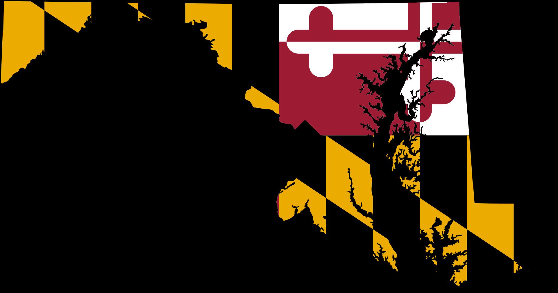 Flag Map Of Maryland Maryland Sticker State Flag Art Maryland Flag