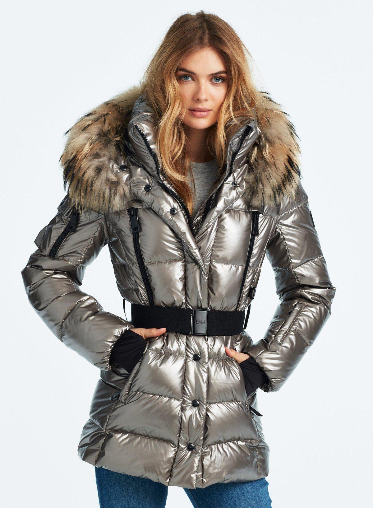 Millennium Gunmetal Stylish Outerwear Puffer Jacket Women Leather Jackets Women [ 1633 x 1200 Pixel ]