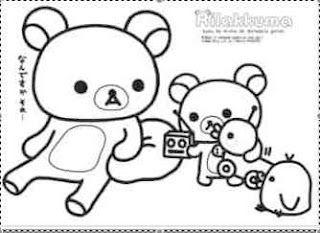 Dibujos para colorear rilakkuma con 320 233 for Rilakkuma coloring pages