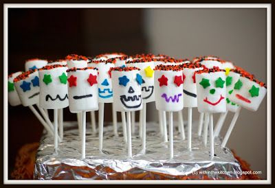 Within the Kitchen: No Bake Halloween Marshmallow Pops