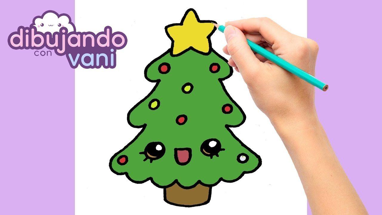 Como Dibujar Un Arbol De Navidad Paso A Paso Dibujos De Navidad Facile Dibujos De Navidad Dibujos De Navidad Faciles Como Dibujar Arboles