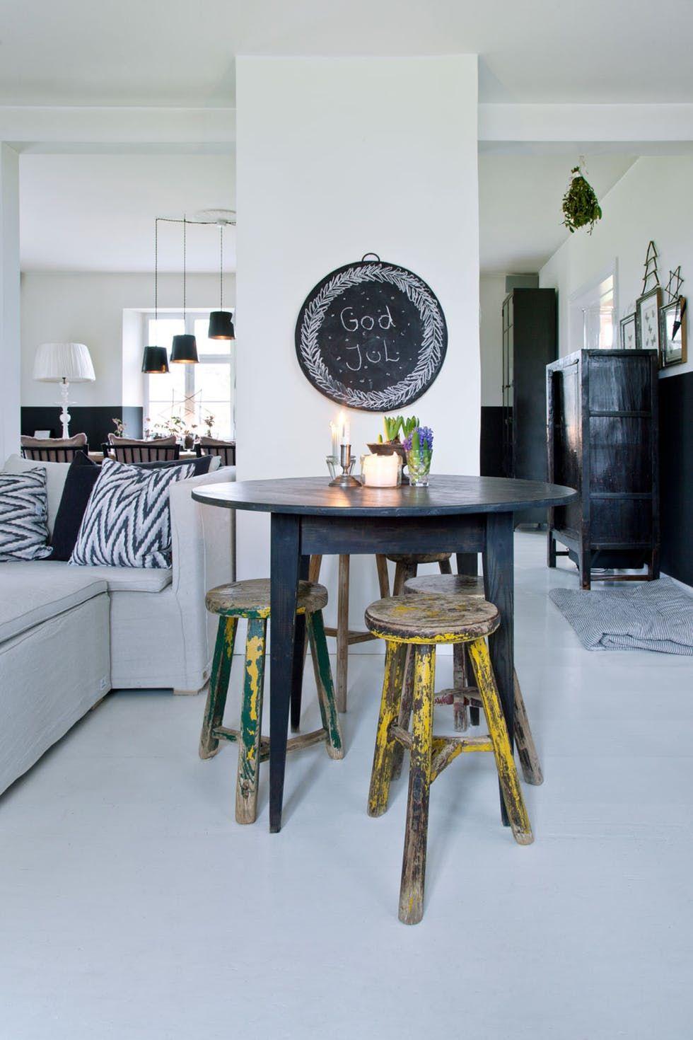 En casa con el empresario interior Tine Kjeldsen en Fyn, vivir