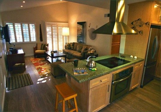 open kitchen and living room floor plans Profit Concept Kitchen