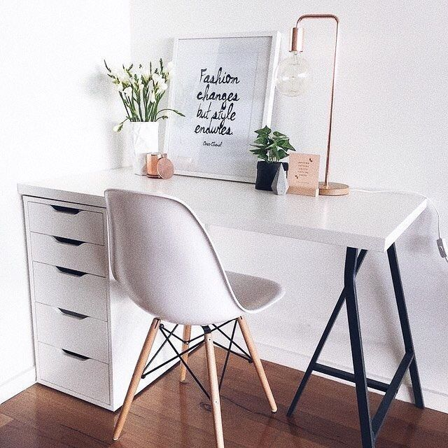 Photo of Desk with cross base, glass top / nickel base – home accessories blog