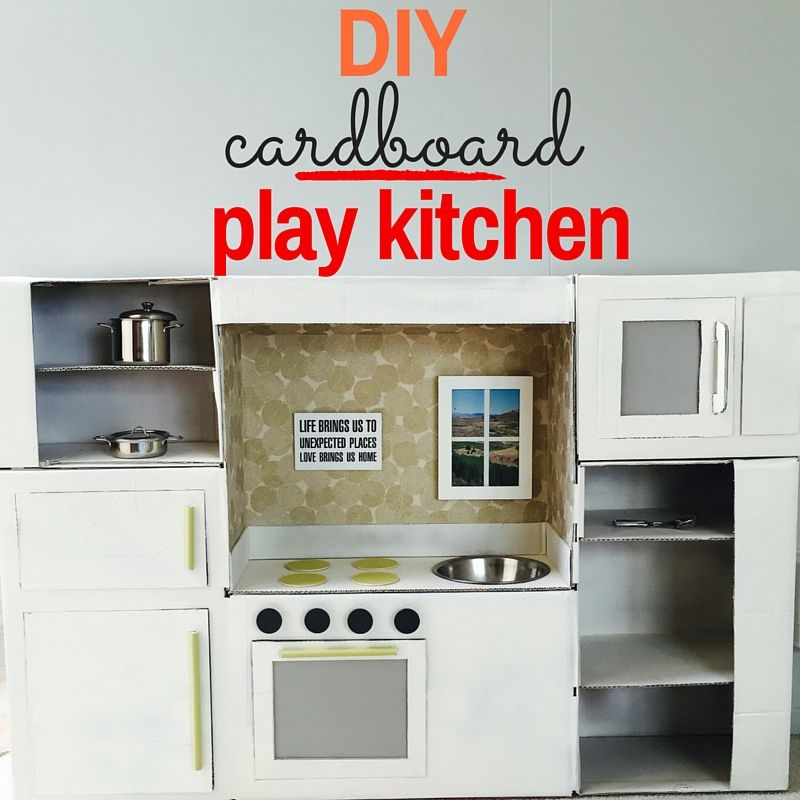 Homemade DIY Play Kitchen Tutorial | Juguetes hechos en casa ...