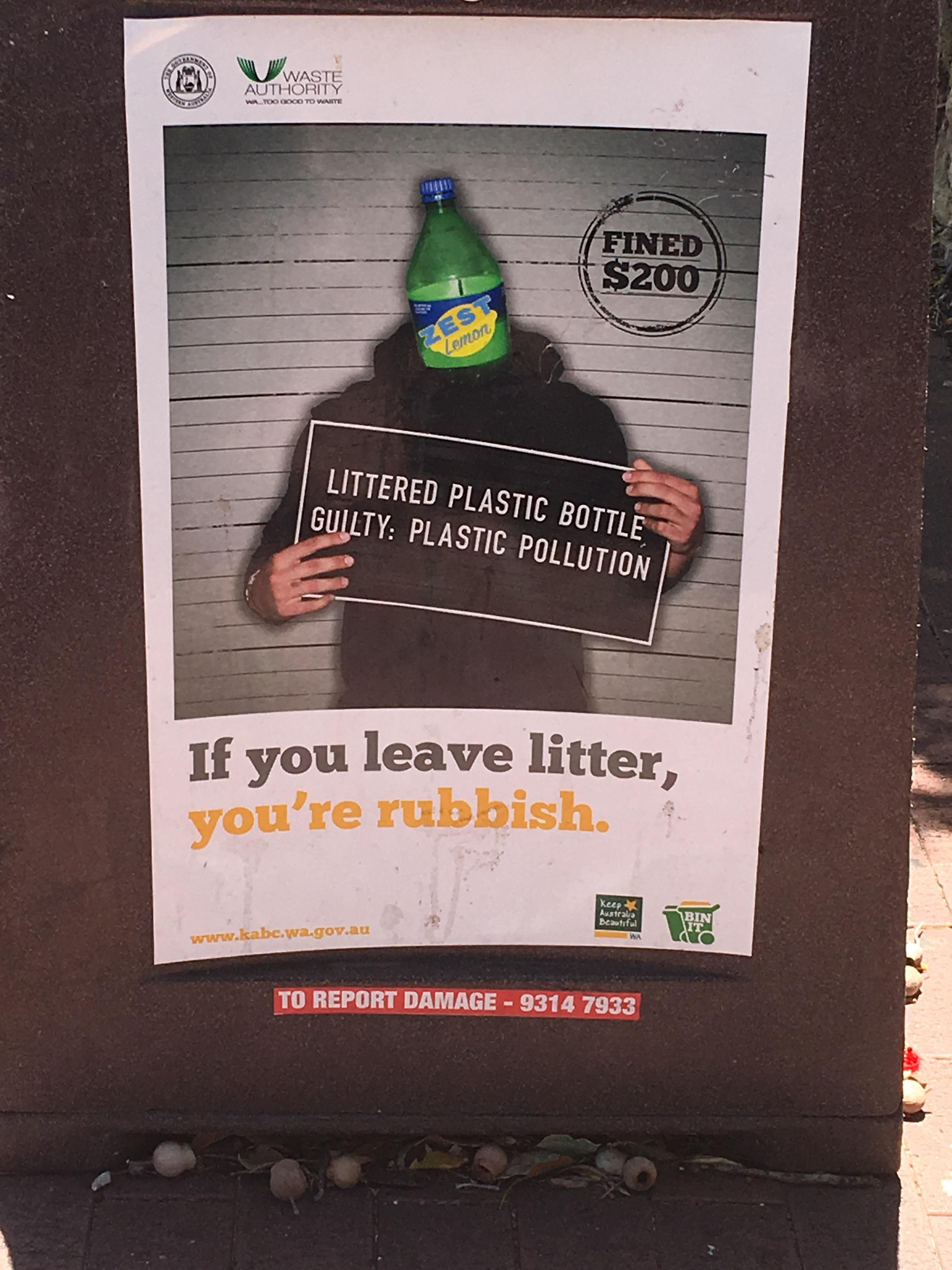 Been Meaning To Post This West Australian Anti Littering Poster For A Whole Campaign Posters What Is Design Meant To Be