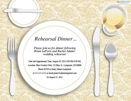 Free wedding rehearsal dinner invitation Wedding ideas for - dinner invite templates