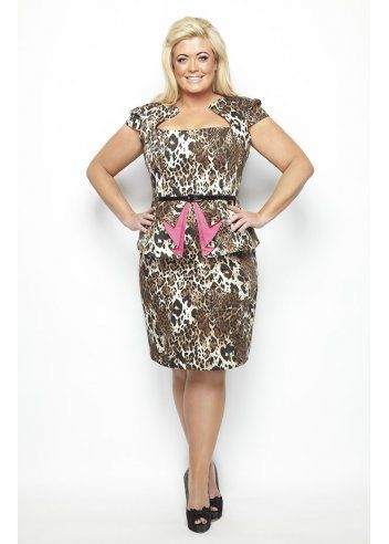 Gemma Collins Kampala Fuchsia Leopard Print Peplum Dress  fashion   mididress  leopardprint 0a17c3350
