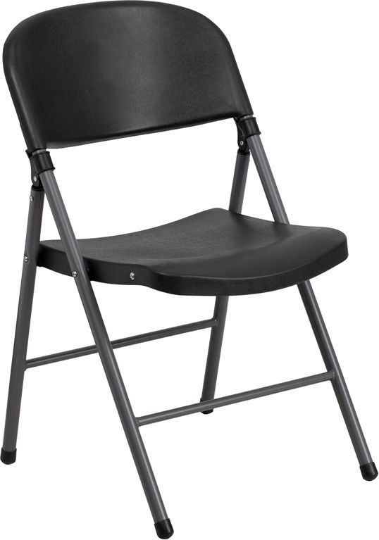 Hercules Series 330 Lb Capacity Black Plastic Folding Chair With Charcoal Frame Manhattanhomedesi Folding Chair Plastic Folding Chairs Padded Folding Chairs