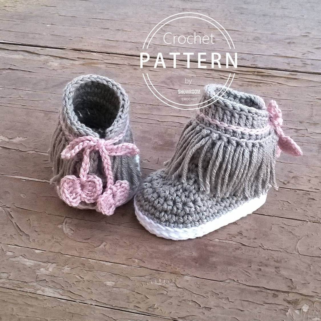 Crochet PATTERN. Dakota baby sneakers | Häkeln