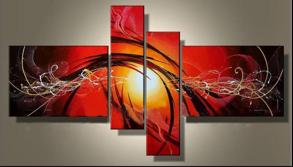 cuadros modernos abstractos tripticos texturados galer a