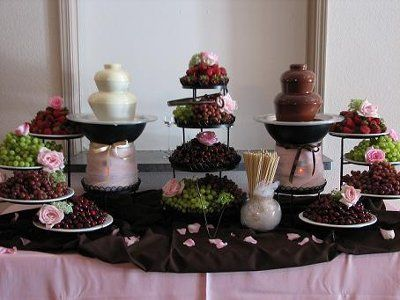 Candy Wedding Reception On Bar Chocolate Fountain Weddings Planning Forums