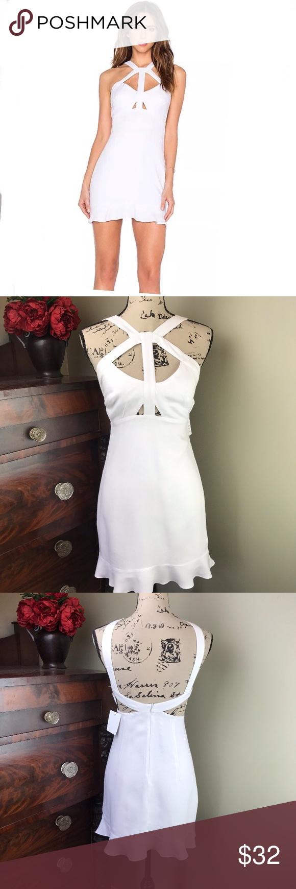 37bccc7b49b NWT Oh Boy! Vestido Recorte White Strappy Dress S NWT Oh Boy! Vestido  Recorte