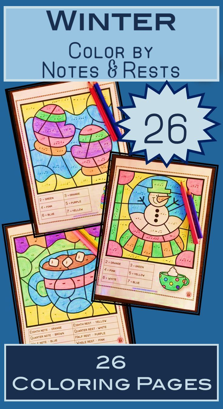 Winter Music Activities 26 Winter Music Coloring Sheets