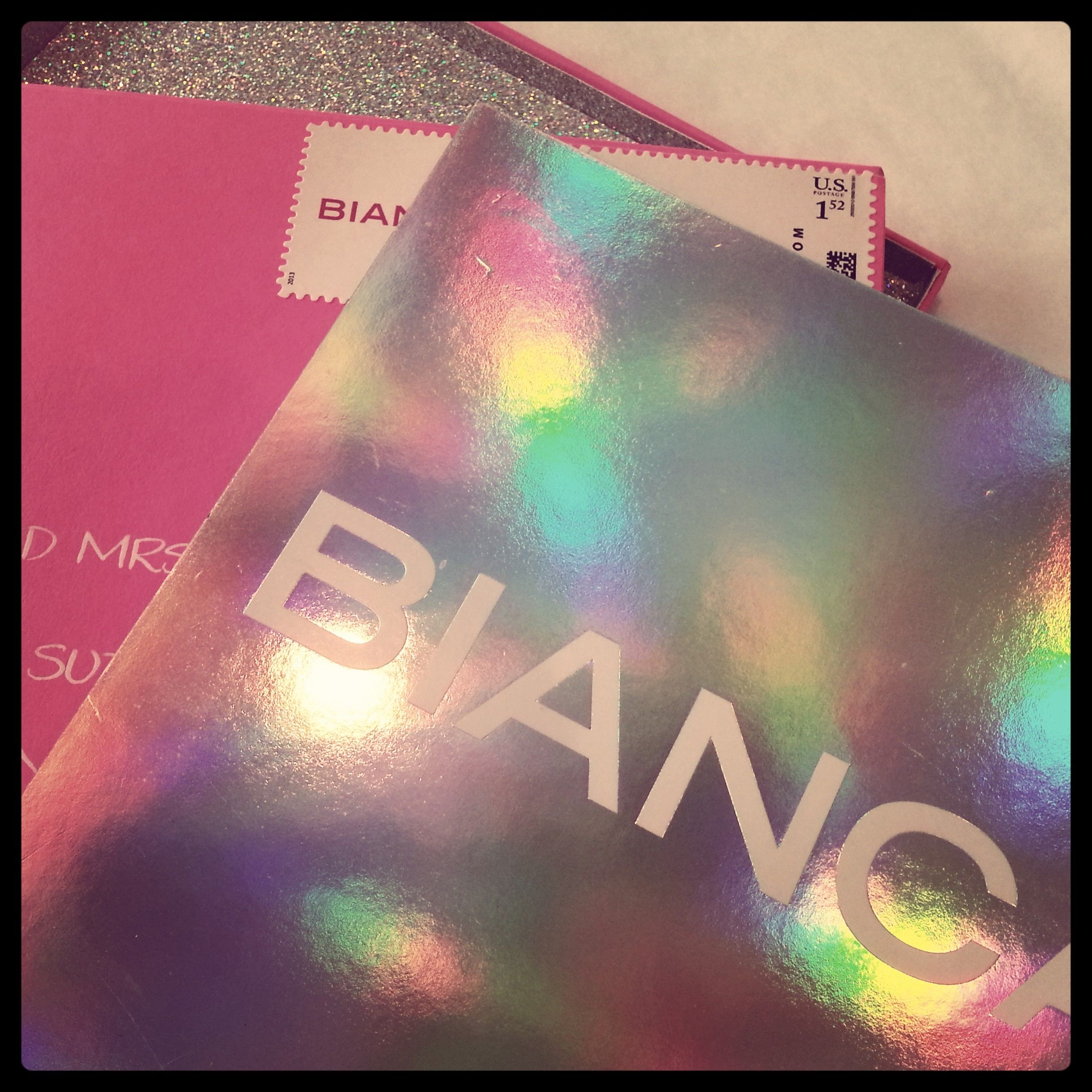 Hot Pink And Holographic Paper