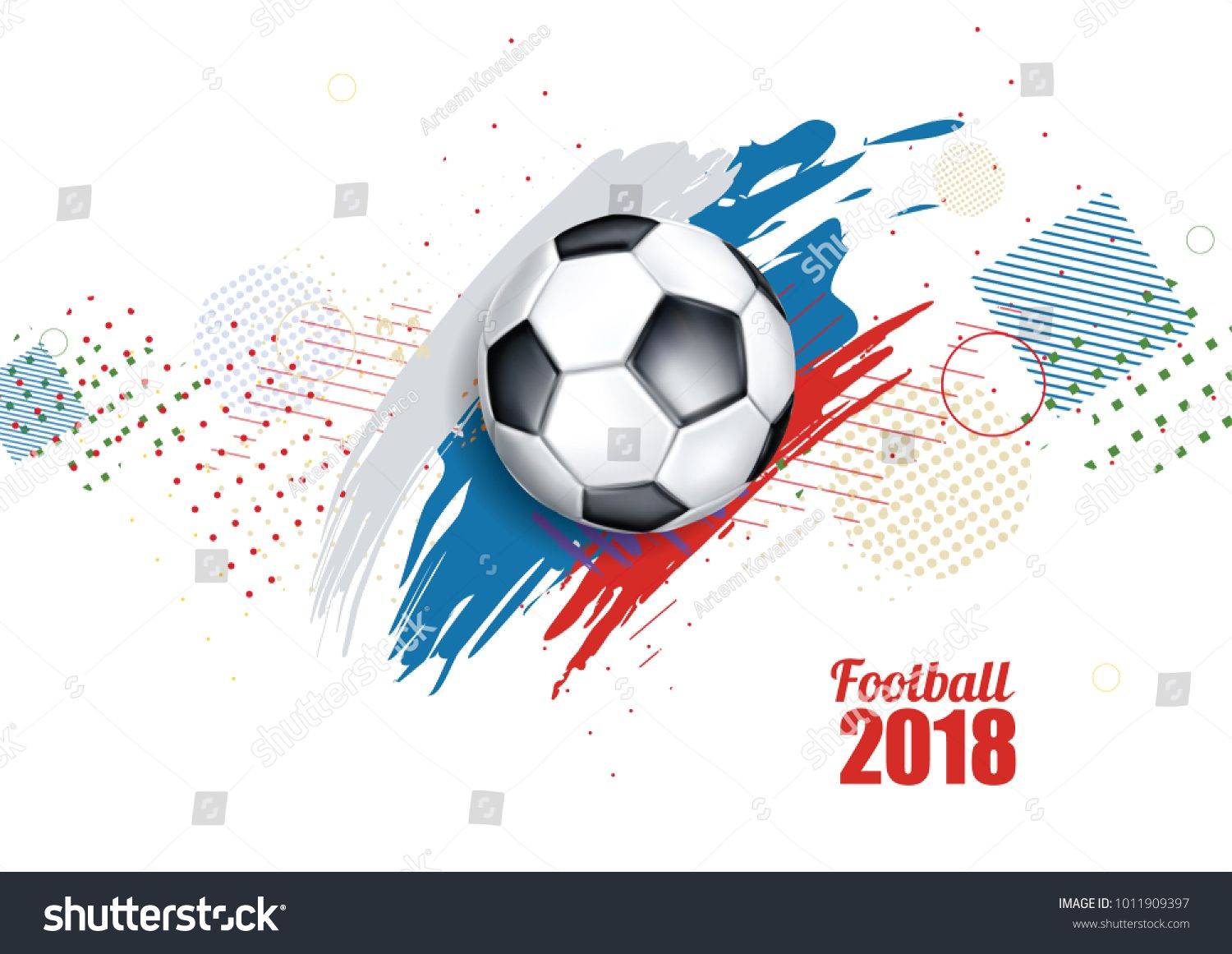 Vector Illustration Of A Football Cup 2018 Design Of A Stylish Background For The Soccer Championship Vector Realistic 3d Ba Soccer Football Cups Card Design