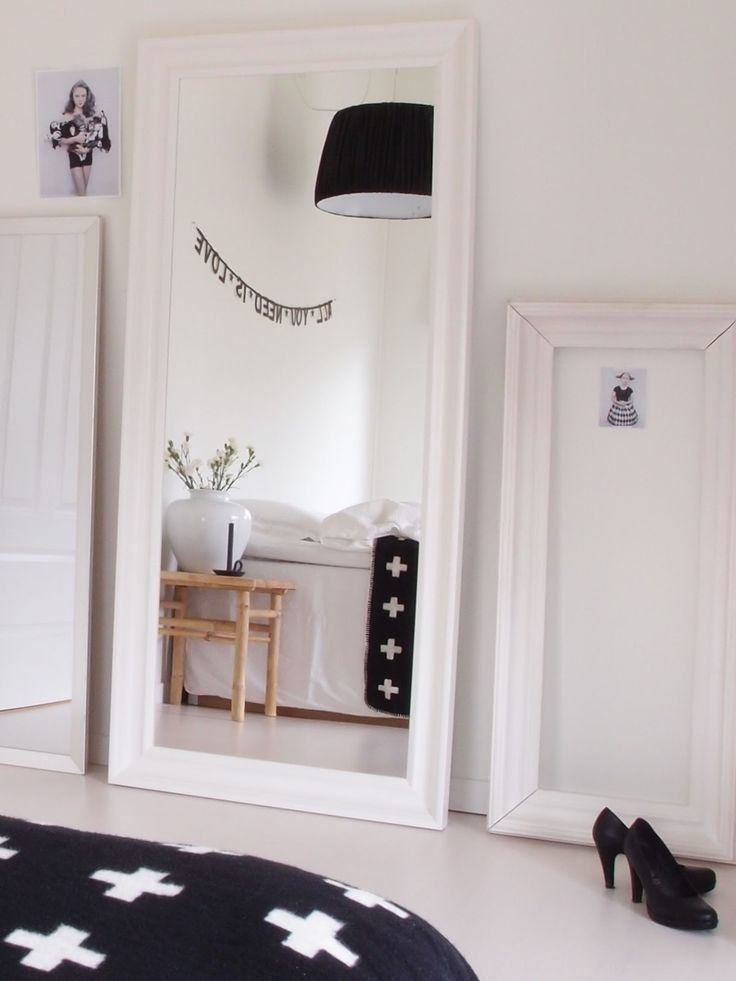 Espejo-de-pared-marco-blanco-2.jpg (736×981)   Espejos   Pinterest ...