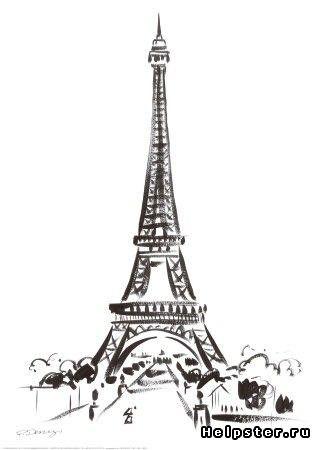 эйфелева башня на ногтях фото