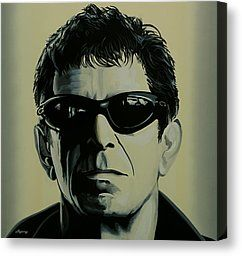 Blues Band Paintings Canvas Prints - Lou Reed Canvas Print by Paul Meijering