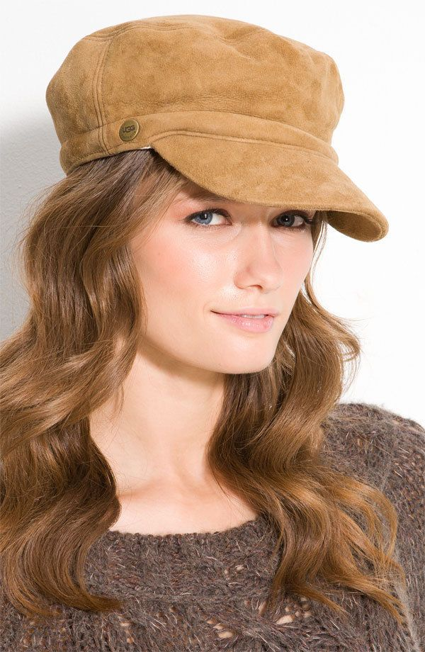NWT UGG Shearling Hat Chestnut Brown Baseball Cap Style  5c33bfb2826f