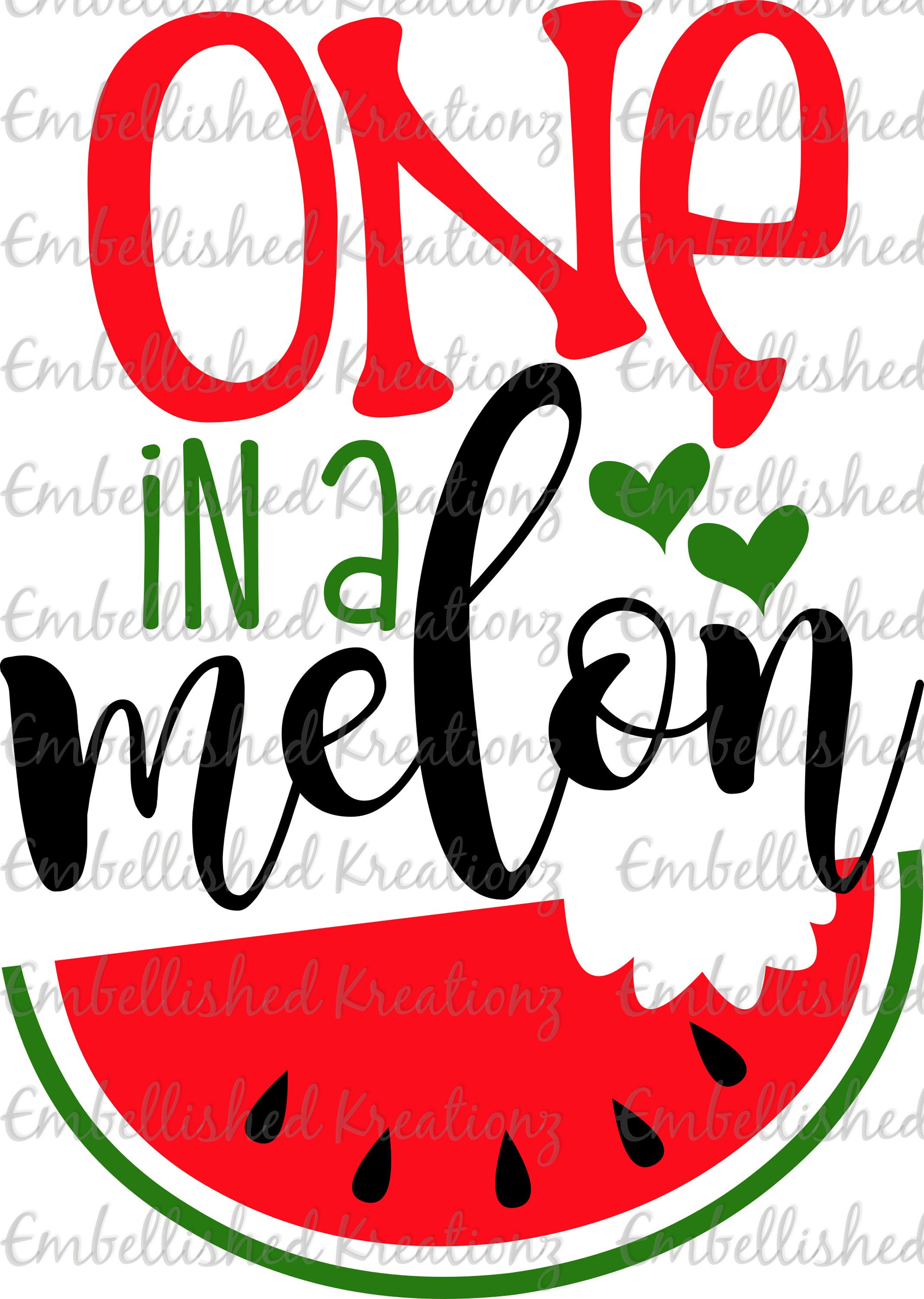 Watermelon/'One in a Melon' with Watermelon/Hearts Vinyl OR