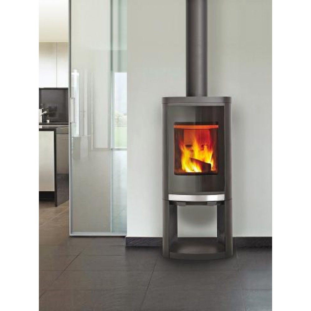 Contemporary Free Standing Electric Fires: Contemporary Modern Design Free Standing Wood Burning High