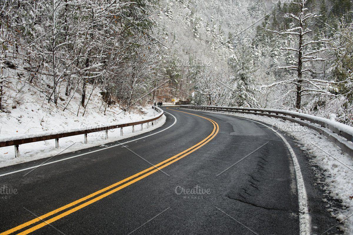Cars On Descent Snowy Asphalt Road Asphalt Road Road Asphalt Hd wallpaper snow winter road asphalt