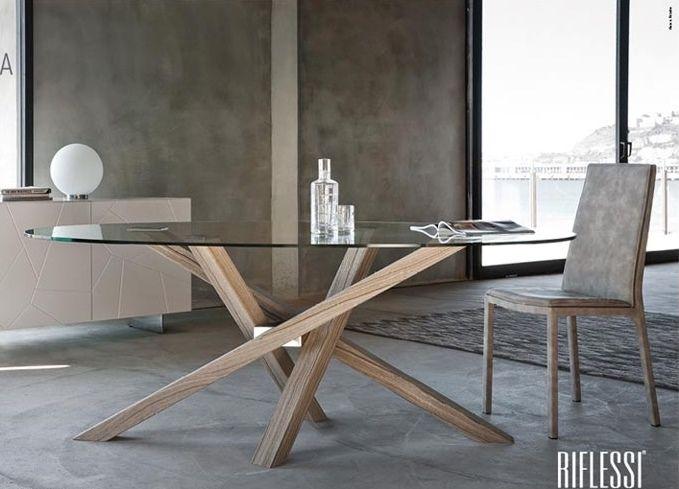 Tavolo Riflessi ~ Tavolo moderno design allungabile laccato bianco art tavoli