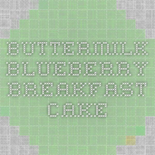 Buttermilk Blueberry Breakfast Cake | Alexandra's Kitchen