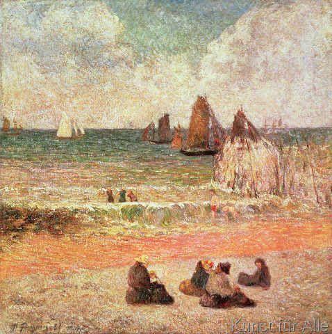 Kunstdruck Die Wäscherinnen in Pont-Aven von Gauguin Paul