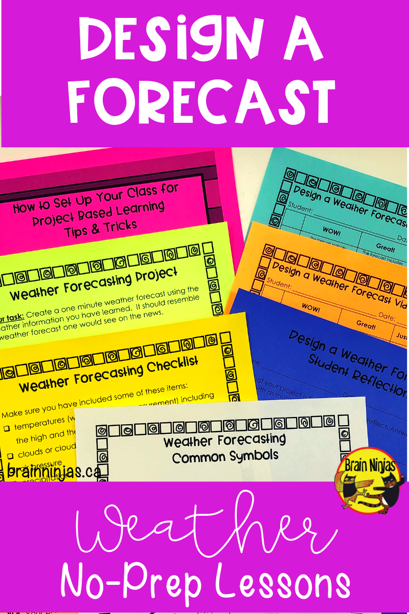 Weather Design A Weather Forecast Weather Lessons Engaging