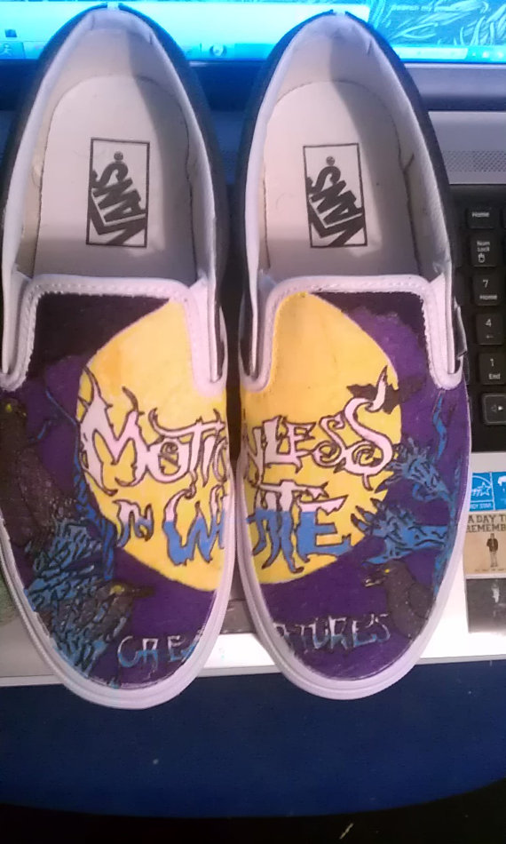 badc0a3a5b45 Motionless in White Creatures Custom Vans